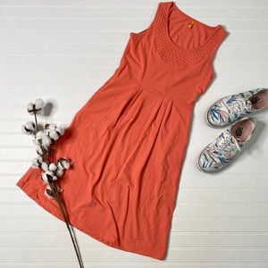 Lucy Orange Woven Sleeveless Dress